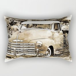 1950's Vintage Chevy Chevrolet Pick up Truck Rectangular Pillow