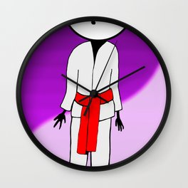 Kung fu Eddy Wall Clock