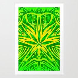 Bud Buggin green Art Print