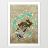 chibi Art Prints featuring Chibi Korra by Serena Rocca