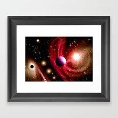 Stardust and solar wind. Framed Art Print