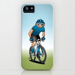 MTB - Mountain biker in the mountains iPhone Case