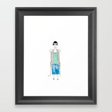 girl in another chair Framed Art Print