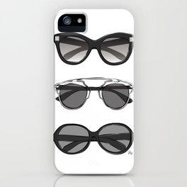 Stylish designer sunglasses iPhone Case