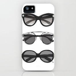 Stylish designer sunglasses iPhone Case