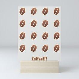 Tasty coffee seamless pattern Mini Art Print