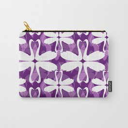 Purple Swans Carry-All Pouch