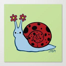 Ladybug Snail Canvas Print