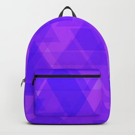 Bright purple triangles in intersection and overlay. Backpack