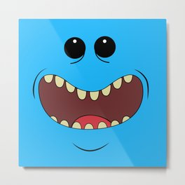 Happy meeseek Metal Print