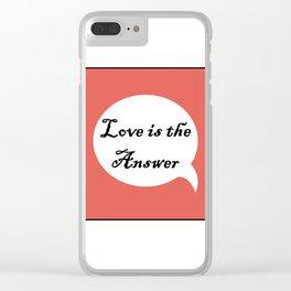 Love C Clear iPhone Case