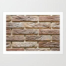 Brick wall texture Art Print