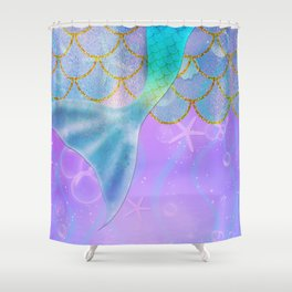 Mermaid Iridescent Shimmer Shower Curtain