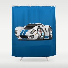 American Supercar Cartoon Shower Curtain