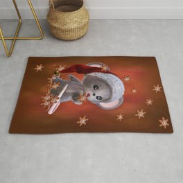 Little Mouse with Christmas Cookies Rug