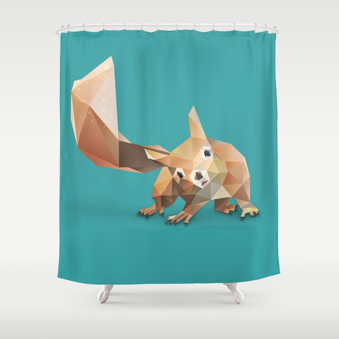 Squirrel Shower Curtain By Dachilledesigns