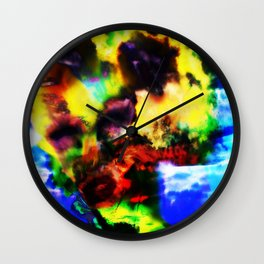 """""""Girl Built of Sky"""" by surrealpete Wall Clock"""