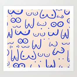 Boobies Art Print