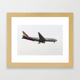 Asiana Airlines Boeing 777 Framed Art Print