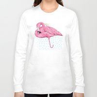 flamingo Long Sleeve T-shirts featuring Flamingo by dogooder