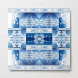 Blue Sky Quilt Metal Print