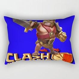 Barbarian king Rectangular Pillow