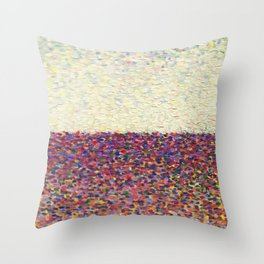 Speckly Rainbow Field Horizon Throw Pillow