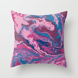 Pink Purple and Blue Abstract Art Throw Pillow