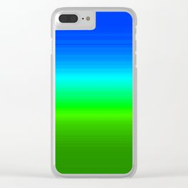 Blue Sky Green Grass Deconstructed (blue to green ombre gradient) Clear iPhone Case