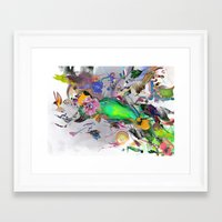 orca Framed Art Prints featuring Orca by Archan Nair