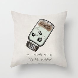 My Friends Need to Be Punished (inspired by Lilo and Stich) Throw Pillow