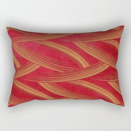 A Chérissent Holiday in Dazzling Red & Gold Rectangular Pillow