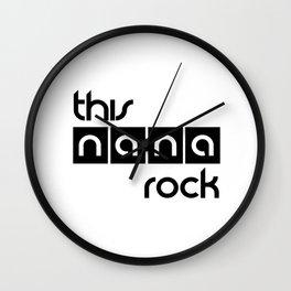 This Nana Rock Wall Clock