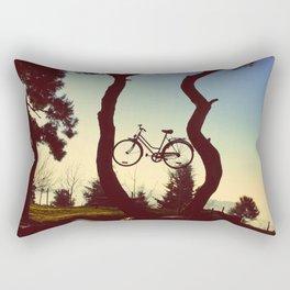 Bicycle Tree Rectangular Pillow