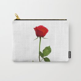 A RED LONG STEM ROSE BOTANICAL ART Carry-All Pouch