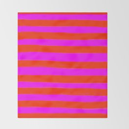 Sweet Stripes in Pink and Red Line Art #decor #society6 #buyart Throw Blanket