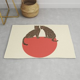 Leopards and shape Rug