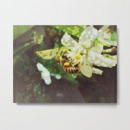 Honey Bee: Emerald Metal Print