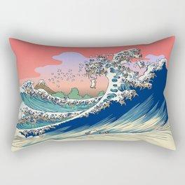 Fuji at Sea of Pugs Rectangular Pillow