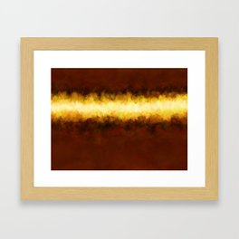 Liquid Gold Sunbeam with Burnished Bronze Framed Art Print