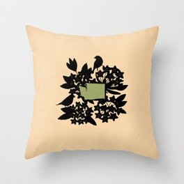 Washington - State Papercut Print Throw Pillow