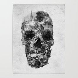 Town Skull B&W Poster
