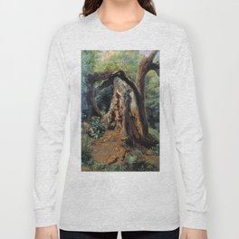 An Old Tree 1859 By Lev Lagorio | Reproduction | Russian Romanticism Painter Long Sleeve T-shirt