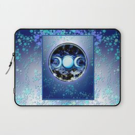 Moon Symbol and Stars Laptop Sleeve