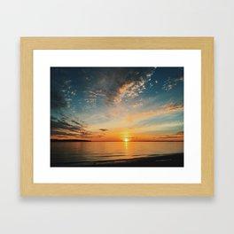 North Shore Sunset Framed Art Print