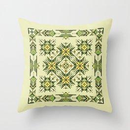shaman trance | tribal pattern Throw Pillow