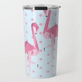 Origami Flamingo Travel Mug