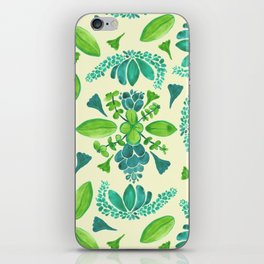 Succulent Pattern iPhone Skin