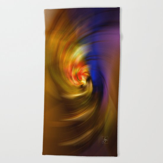 Whirlpool of Light Beach Towel