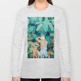 Backyard #illustration #painting Long Sleeve T-shirt
